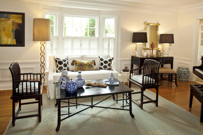Eclectic Living Room by Kerry Ciardelli