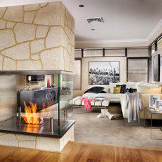 Contemporary Living Room by The Tile Gallery