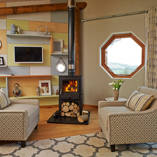 Rustic living room in Other.