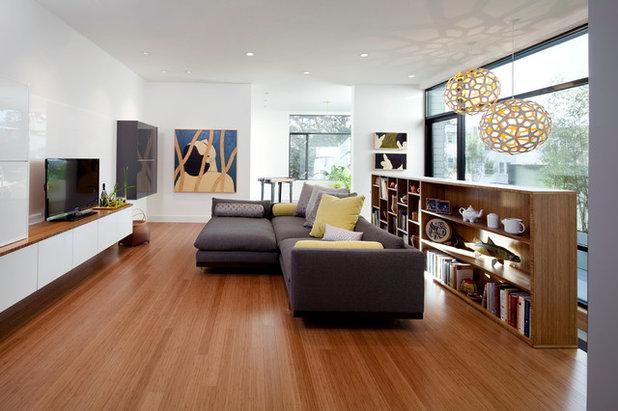 Modern Living Room by Three Legged Pig Design
