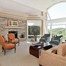 Transitional Living Room by Plekkenpol Builders, Inc.