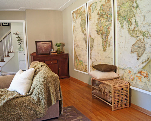 Living Room Wall Murals diy wall mural | houzz
