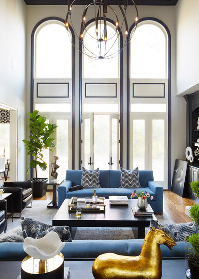 Fusion Living Room by Minhnuyet Hardy Interiors
