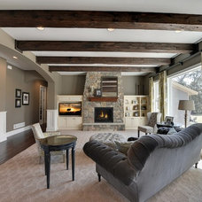 Traditional Living Room by Habitat Architecture