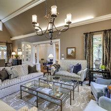 Traditional Living Room by KBI Interior Design Studios