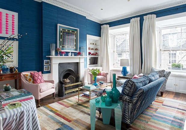 Eclectic Living Room by Jessica Buckley Interiors