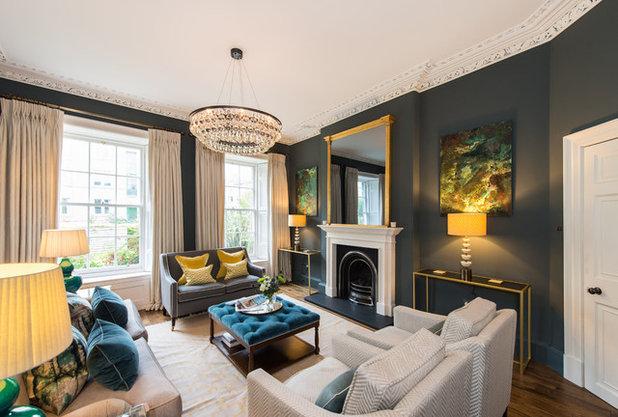 stunning elegant living room georgian   Houzz Tour: A Small Georgian Townhouse Gets an Elegant Update