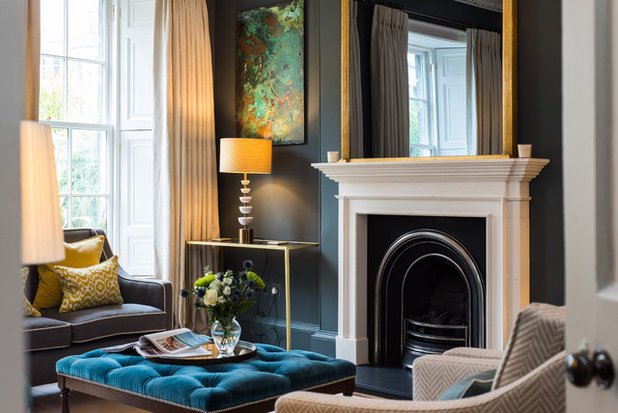 Transitional Living Room by Lally Walford Interiors