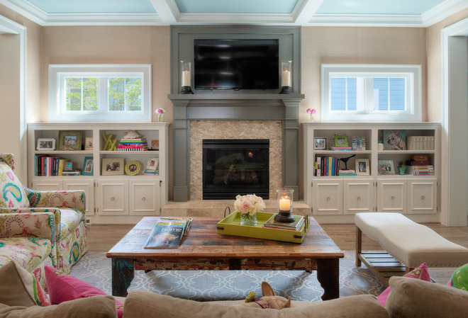 Transitional Living Room by In Site Designs