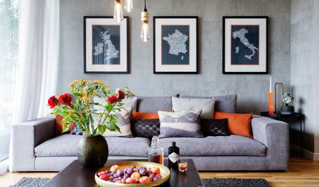 Houzz Tour: Teal and Orange Accents Warm Up an Urban Space