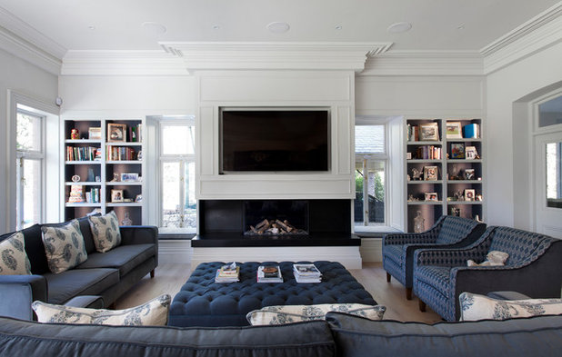 Transitional Living Room by Noel Dempsey Design