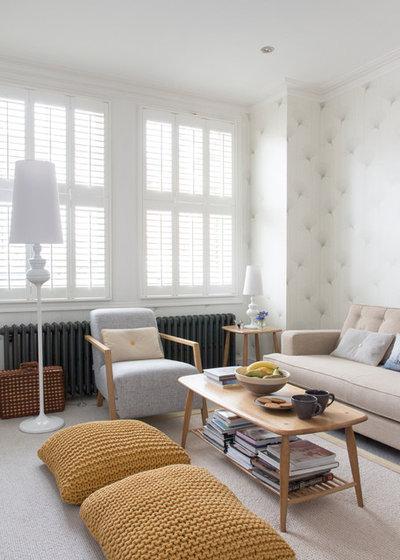 Contemporáneo Salón by Rebecca Hayes Interiors