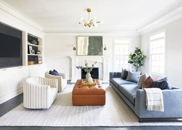 Transitional Living Room by Allison Merritt Design, LLC