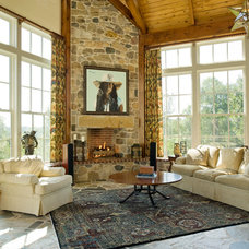 Traditional Living Room by Archer & Buchanan Architecture, Ltd.