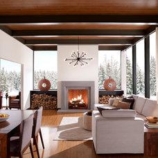 Transitional Living Room by Eldorado Stone