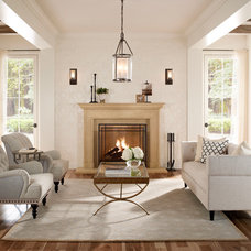 Transitional Living Room by Eldorado Stone