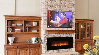 Electric Fireplace in a Traditional Living Room
