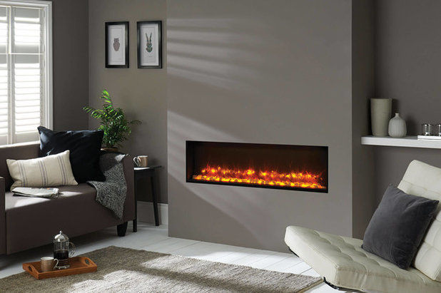 Contemporary Living Room by Phoenix Fires