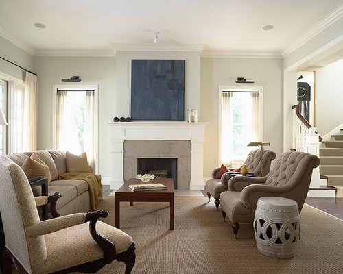 Traditional Living Room Idea In Minneapolis With Dark Wood Floors And A  Standard Fireplace Part 29