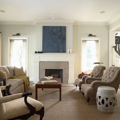 traditional living room by Erotas Building Corporation