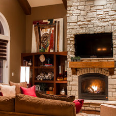Traditional Living Room by Artistic Cabinetry LLC