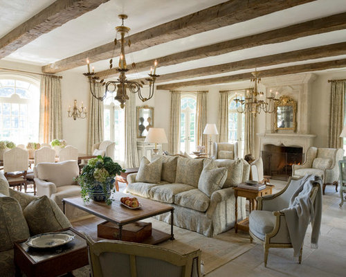 Traditional French Country Living Room Design Ideas Remodels Photos Houzz