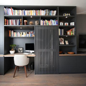 Elegant Grey Media Unit - Hampton, London.