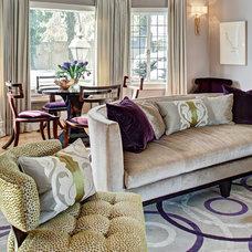 Transitional Living Room by Kingsley Belcher Knauss, ASID