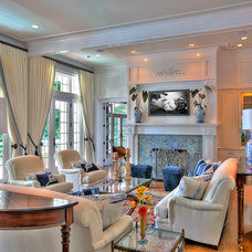 Traditional Living Room by At Home Design LLC