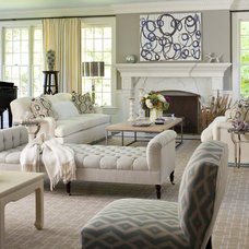 transitional living room by MuseInteriors