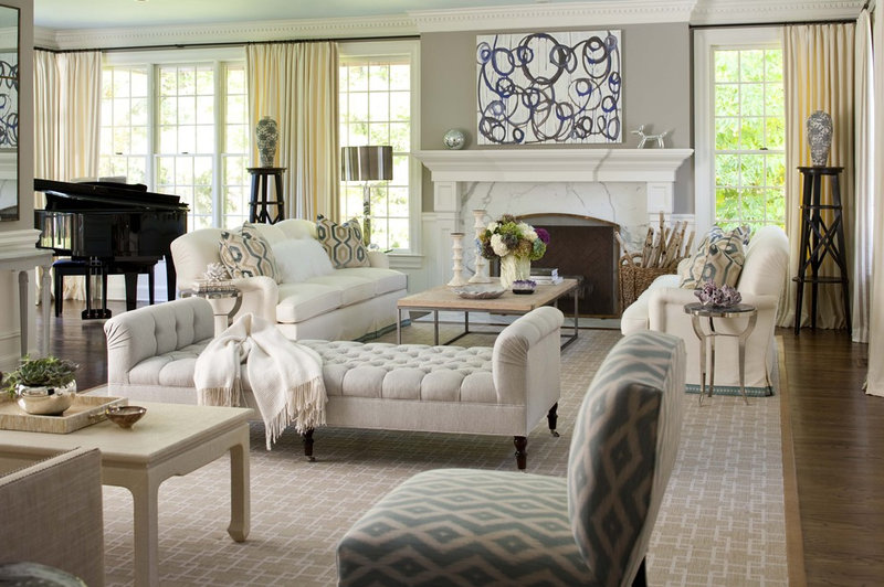 Traditional Living Room by MuseInteriors