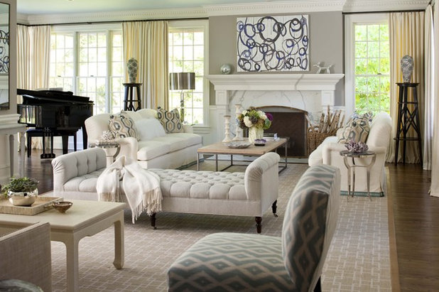 American Traditional Living Room by MuseInteriors