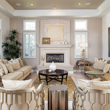 Transitional Living Room by KuDa Photography