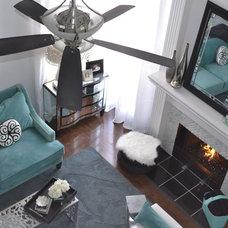 Transitional Living Room by Lynn Wendeborn Designs