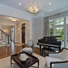 Transitional Living Room by Newgard Custom Homes