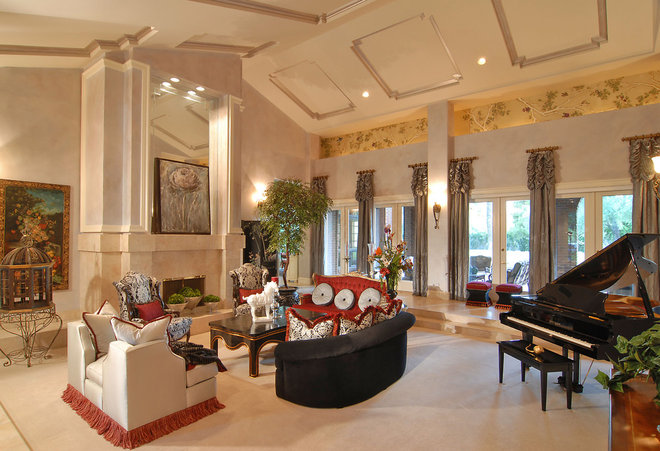 Traditional Living Room by S Interior Design
