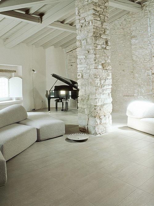 Houzz Living Room Tile Floor Lappato