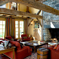 Rustic Living Room by Sargent Design Company