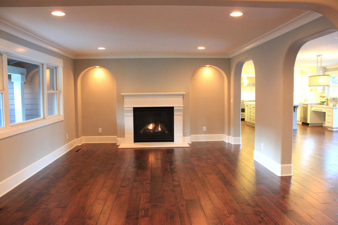 Traditional Living Room by Fautt Homes