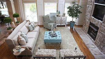 Elegant Transitional Living Room in Broken Arrow
