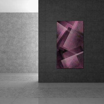 Elegant Vertical Geometric Abstract Art