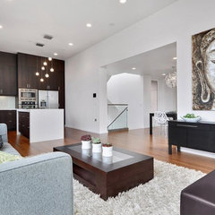 modern living room by Elemental Design, LLC