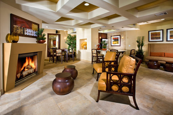 Contemporary Living Room by Design West