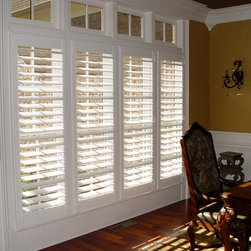 Elite Clear View Shutter Designs - This photo is of our 3 1/2'' Clear View design in a single panel, four window group. The project was part of a whole house installation of the Collins residence in The Manor subdivision in North Atlanta.