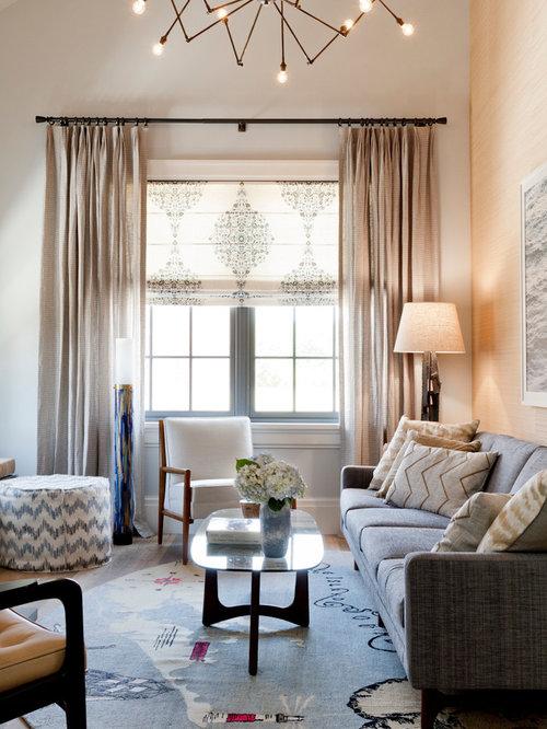 Linen Gauze Roman Shades Home Design Ideas Pictures