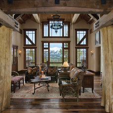 Rustic Living Room by Centre Sky Architecture Ltd