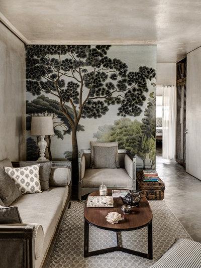 Mediterranean Living Room by Fabien Charuau Photography