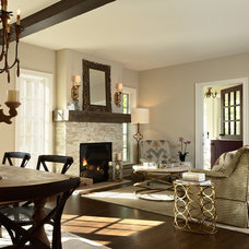 Traditional Living Room by Elsie Interior