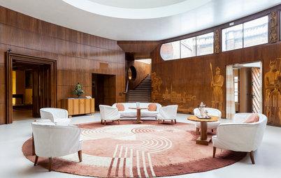 Architekturikone: Ein Mittelalterpalast, runderneuert à la Art déco