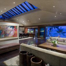 Modern Living Room Emerald Bay Residence